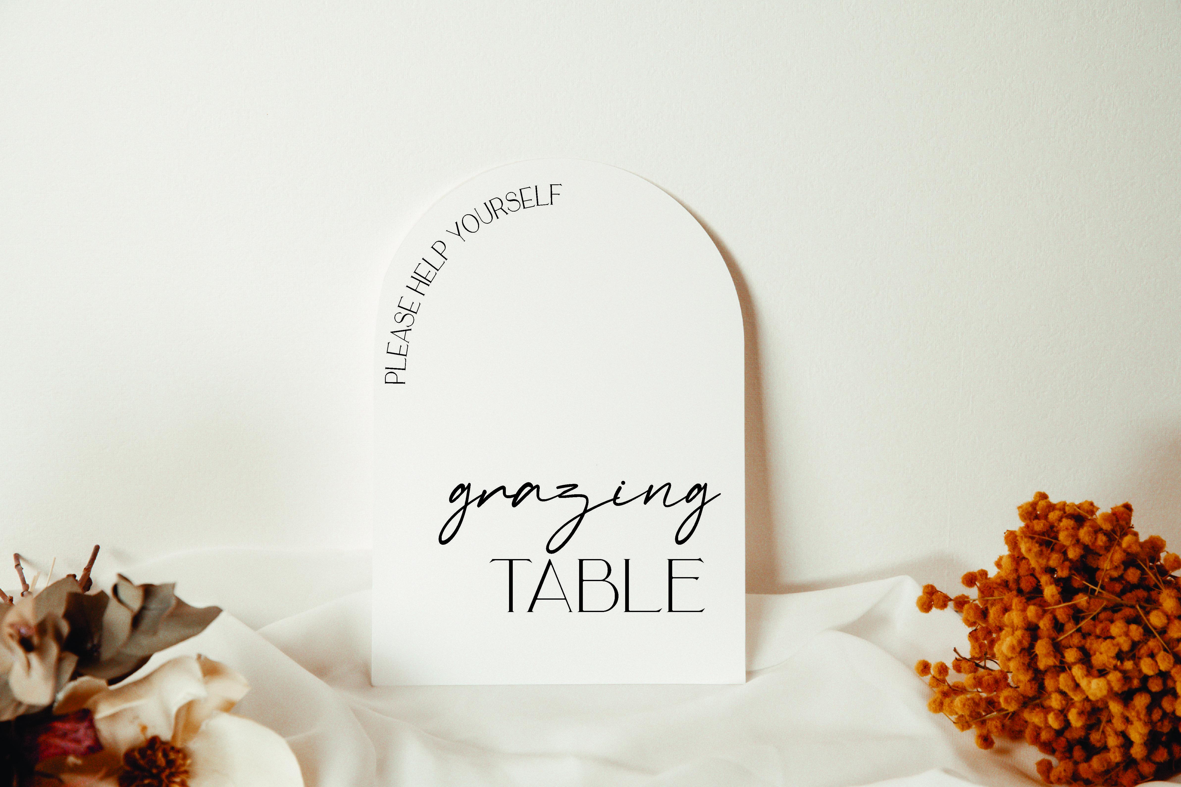 Grazing Table Wedding  acrylic sign