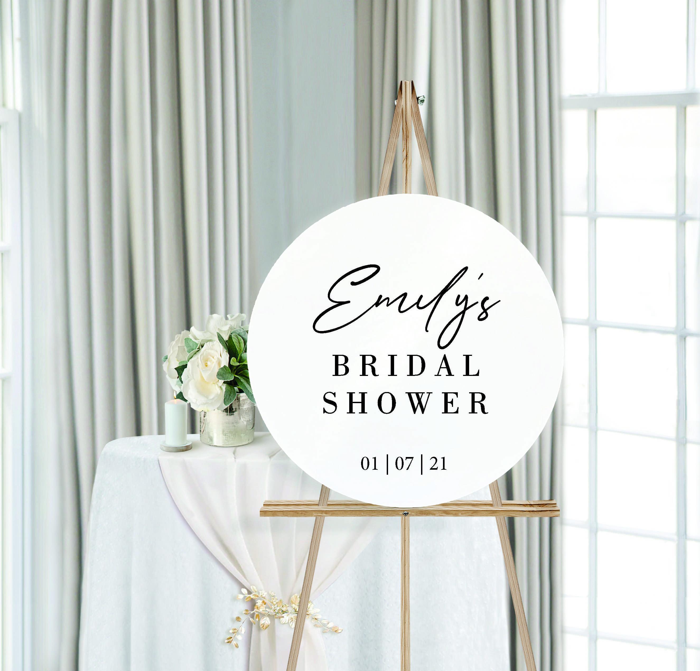 Personalised Bridal Shower Round Wedding Sign