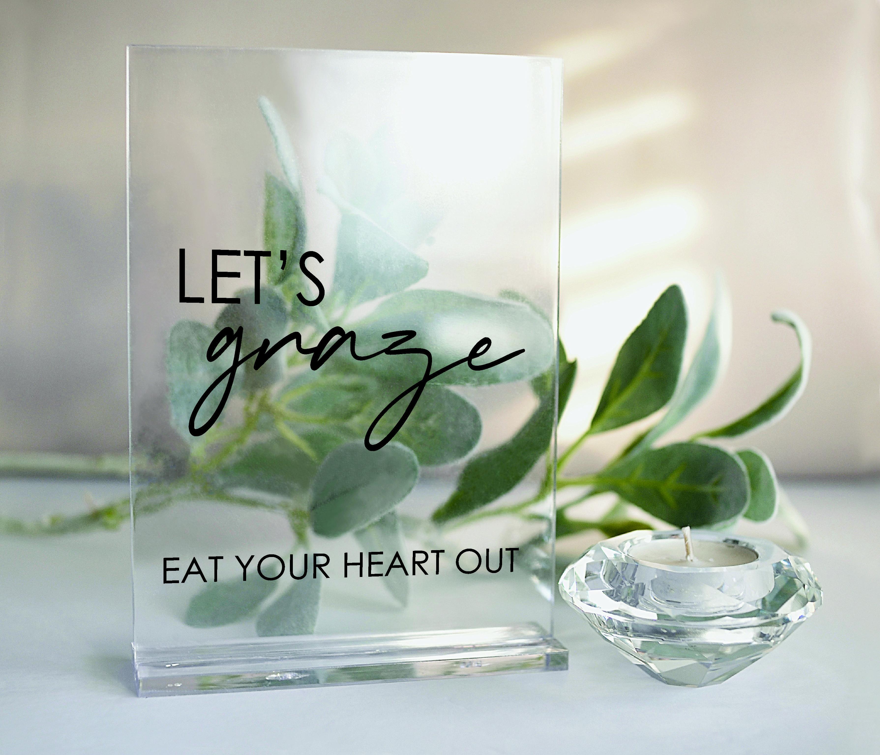 Modern Grazing Table Wedding  acrylic sign