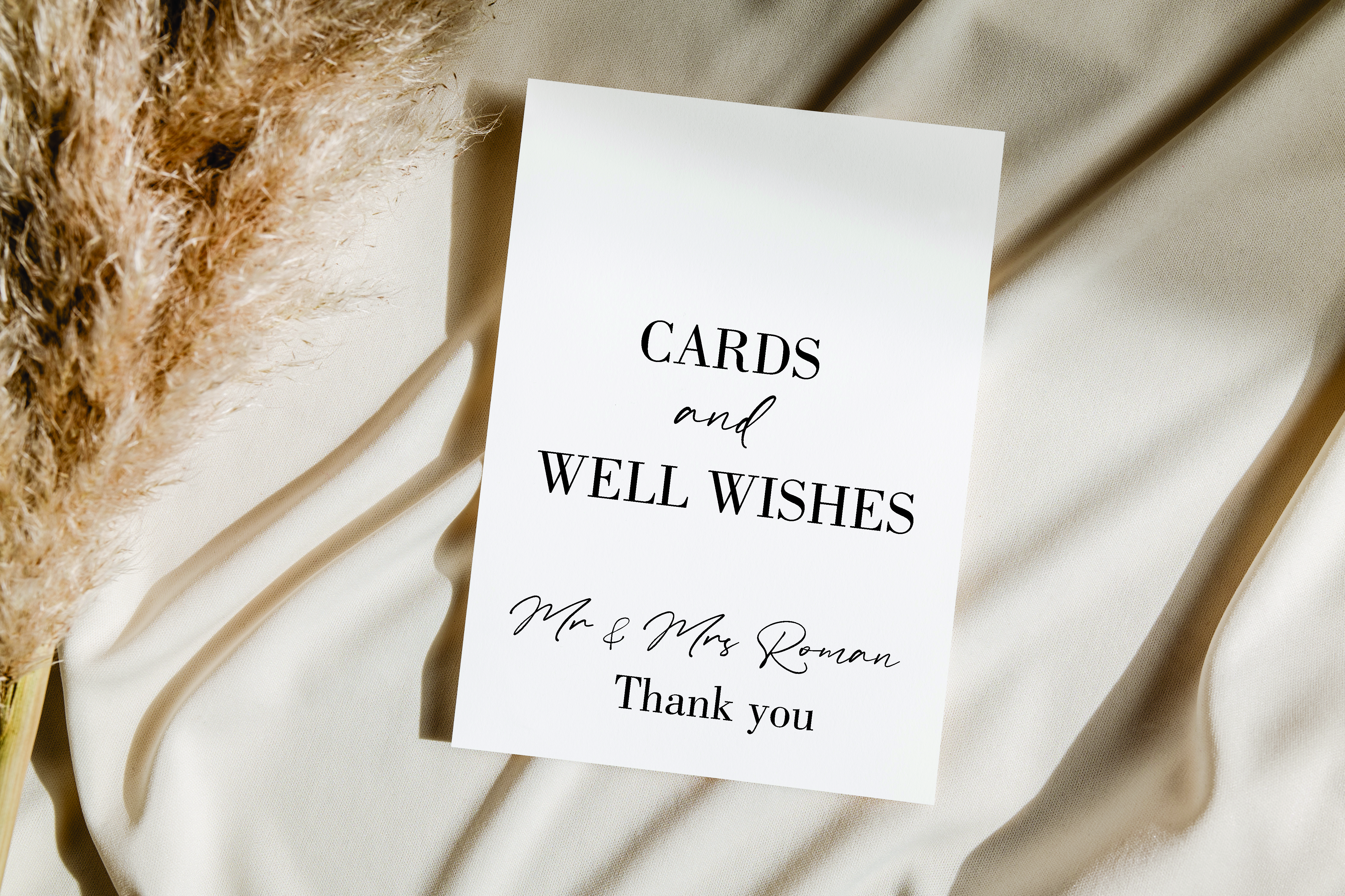 Personalised Thank you for cards & gifts acrylic sign