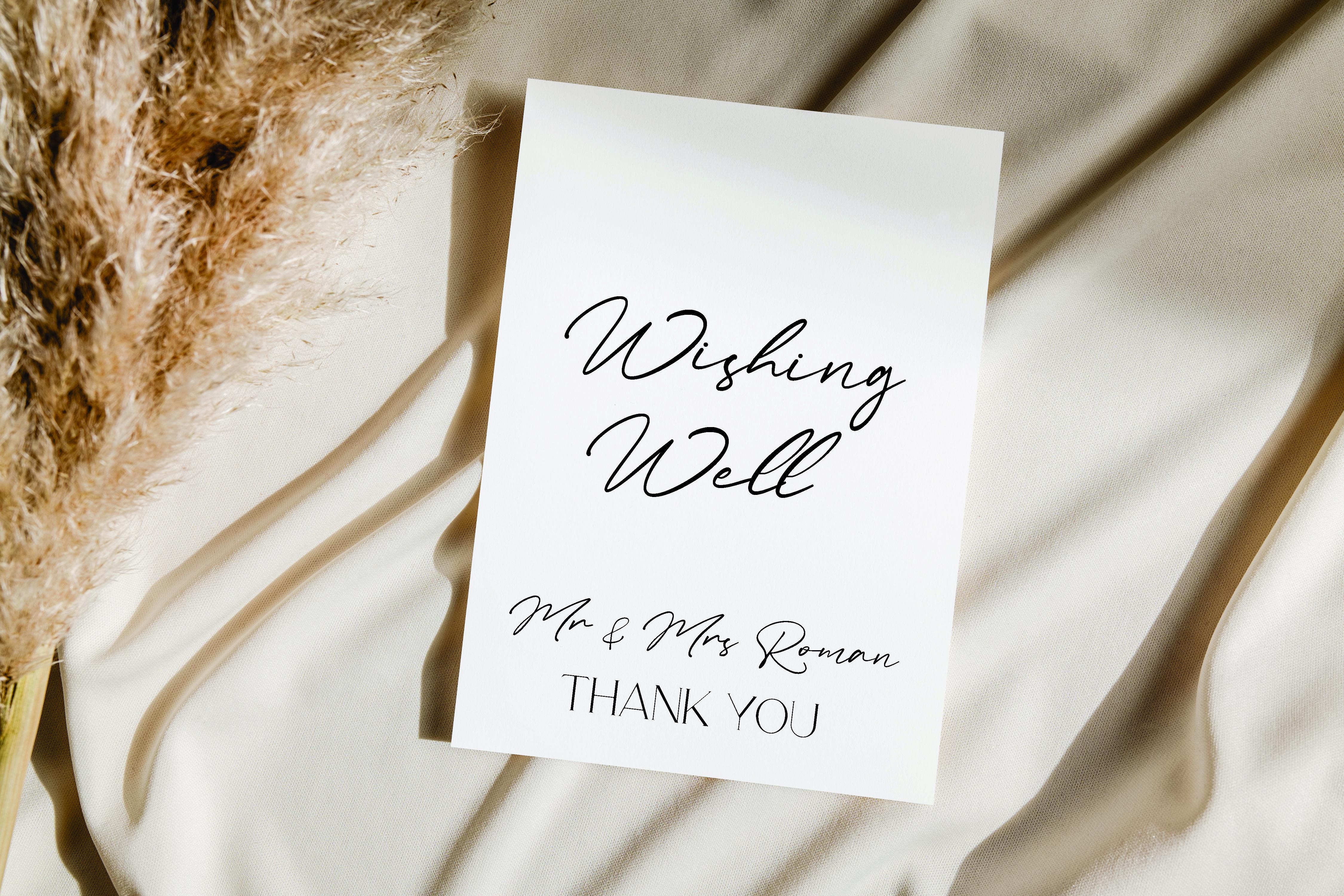 Personalised Wishing Well acrylic sign