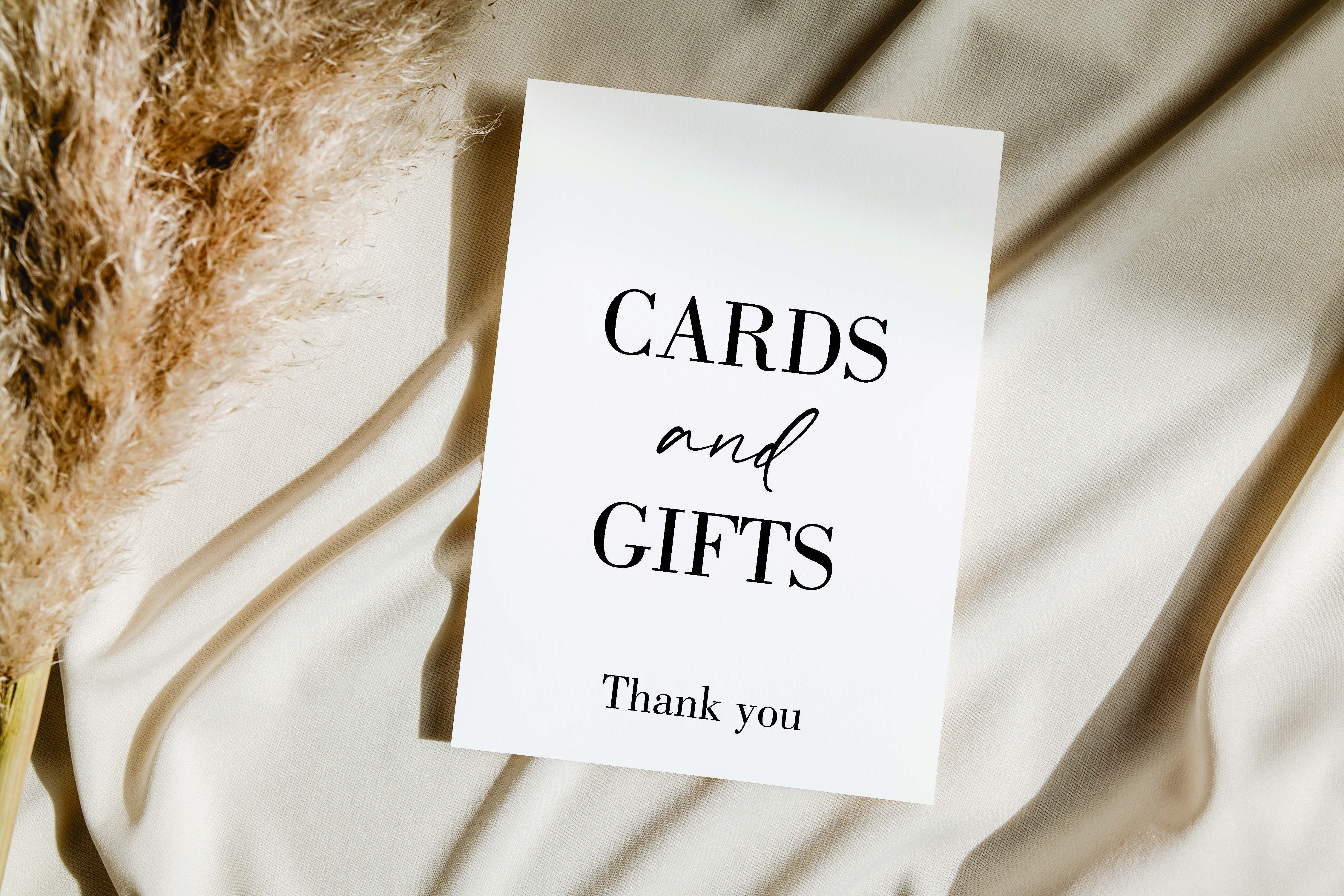 Cards & Gifts Thank you acrylic sign