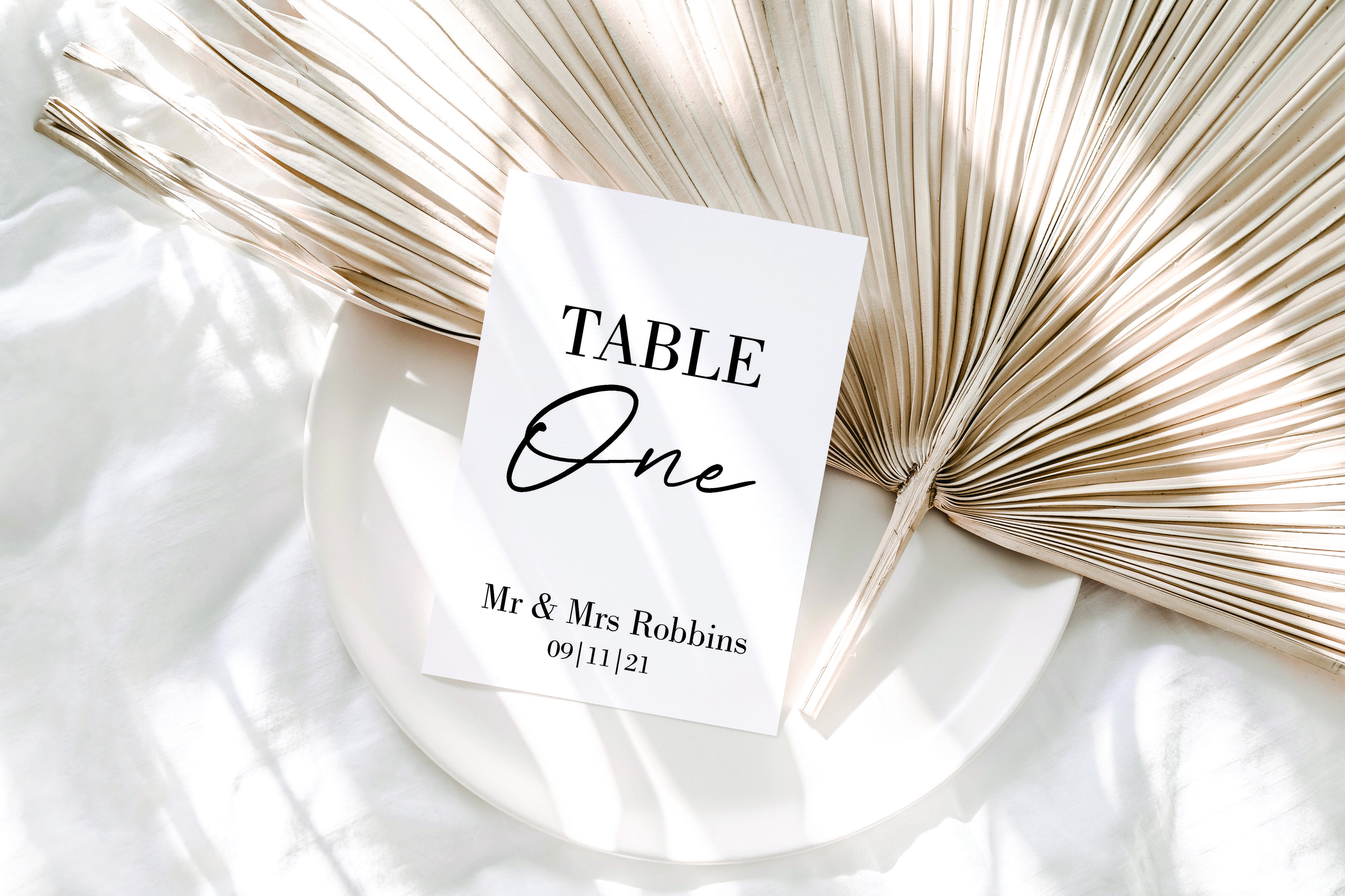 Personalised Table Number acrylic sign