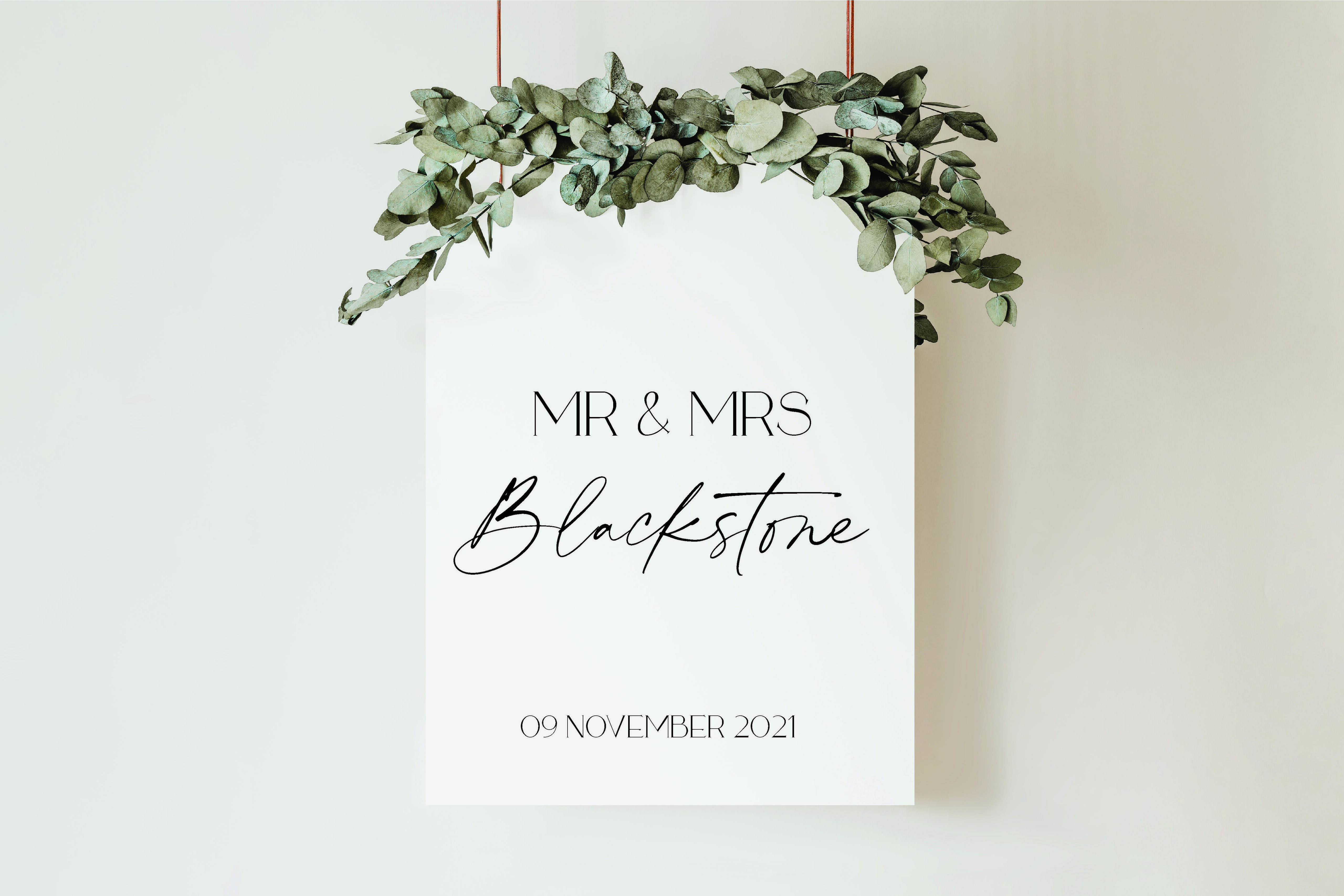 Blackstone Wedding Feature Sign