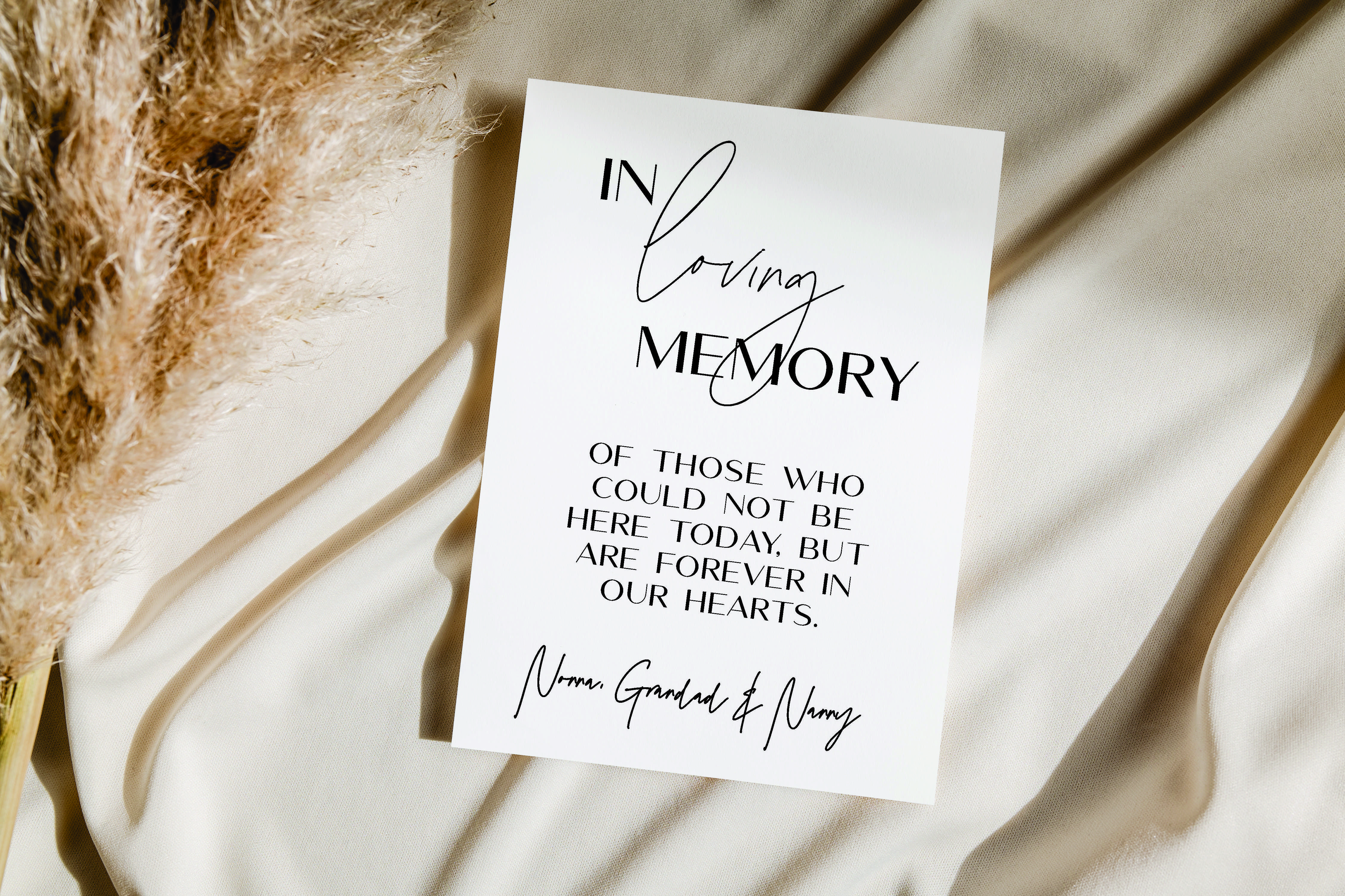 William Range - Memory Sign Script acrylic sign