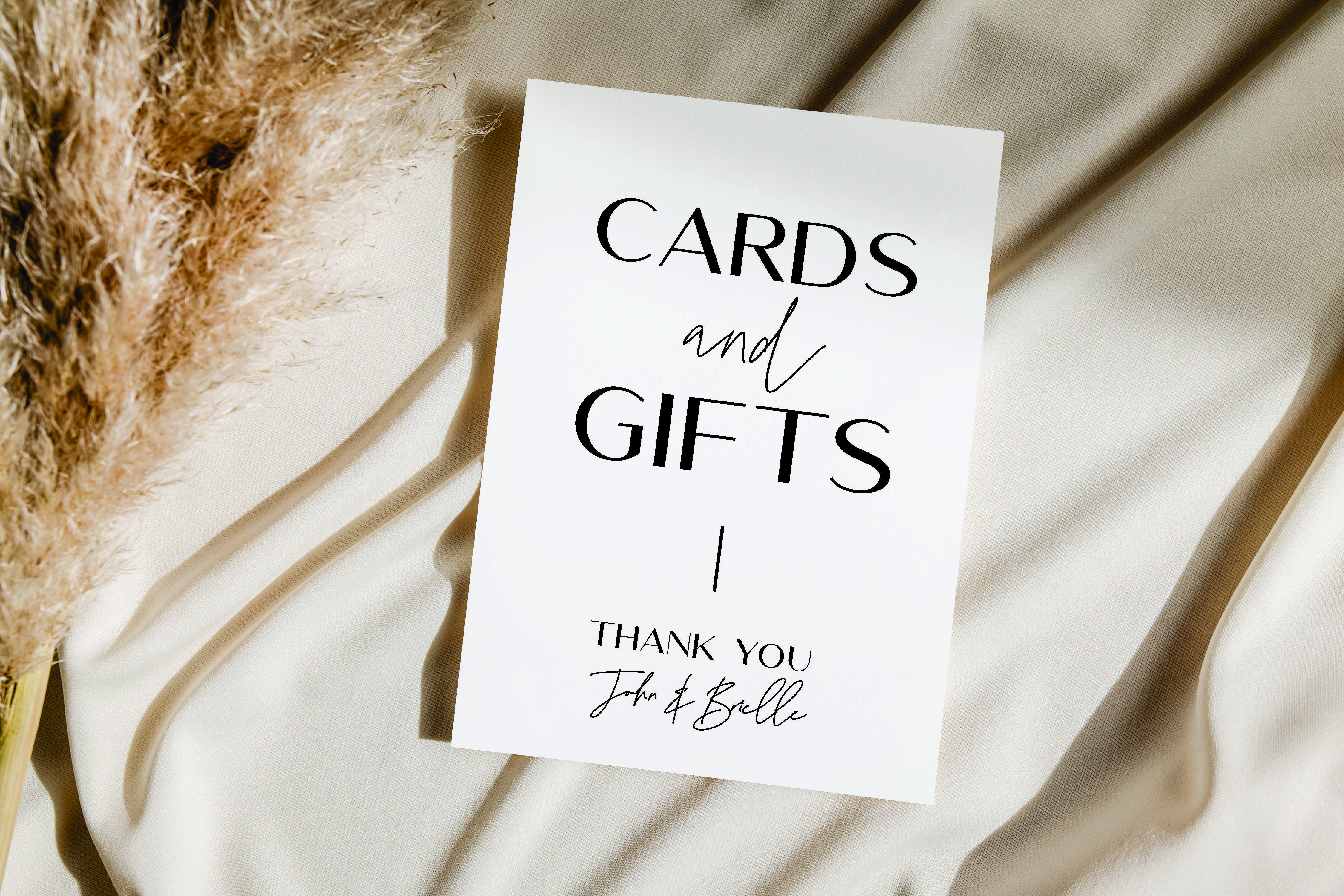 William Cards & Gifts Thank you acrylic sign