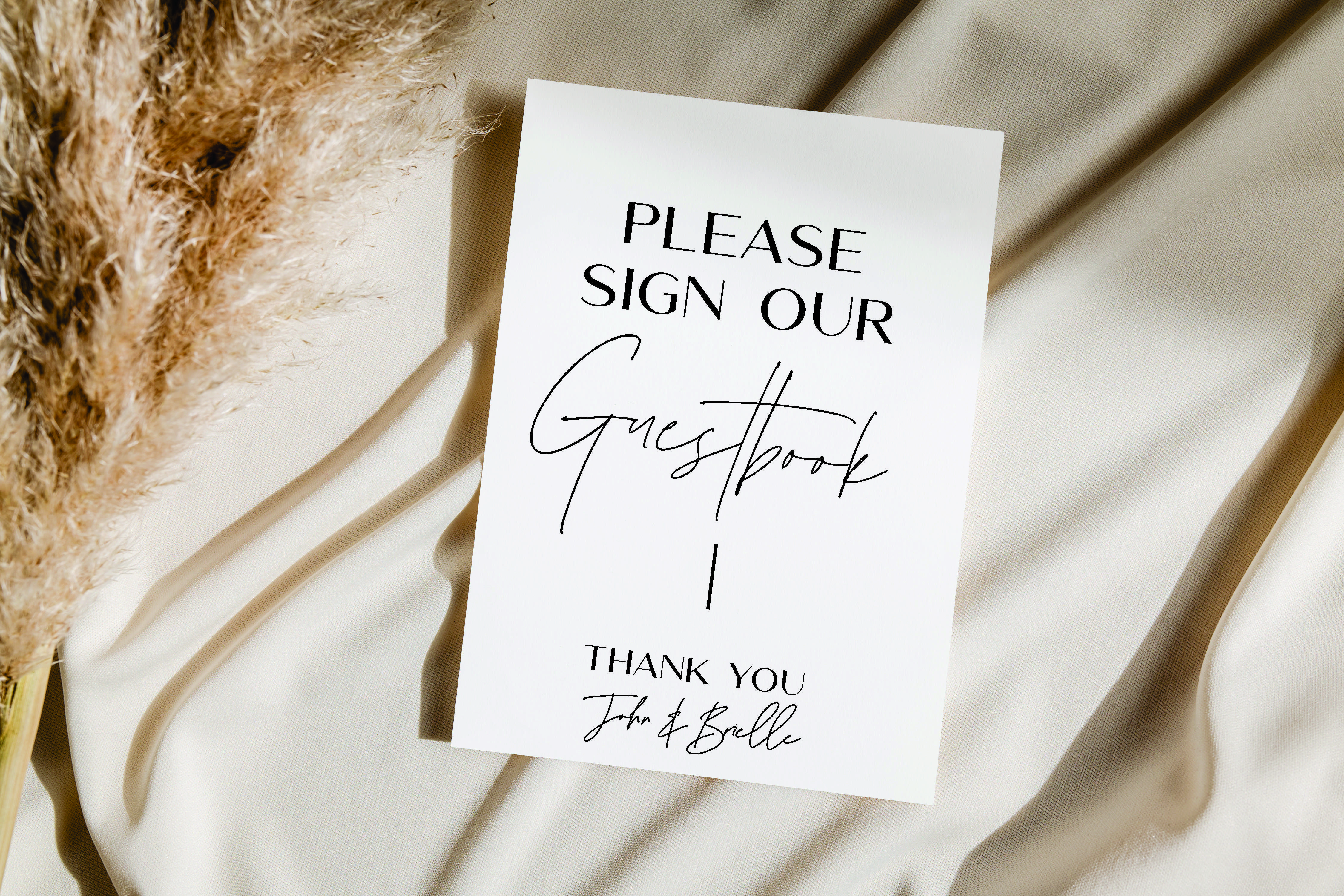 William Range - Guest Book Script acrylic sign