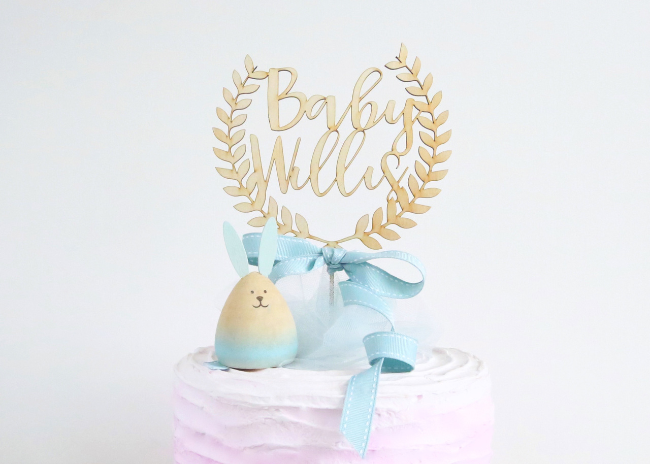 Wreath Baby Shower name