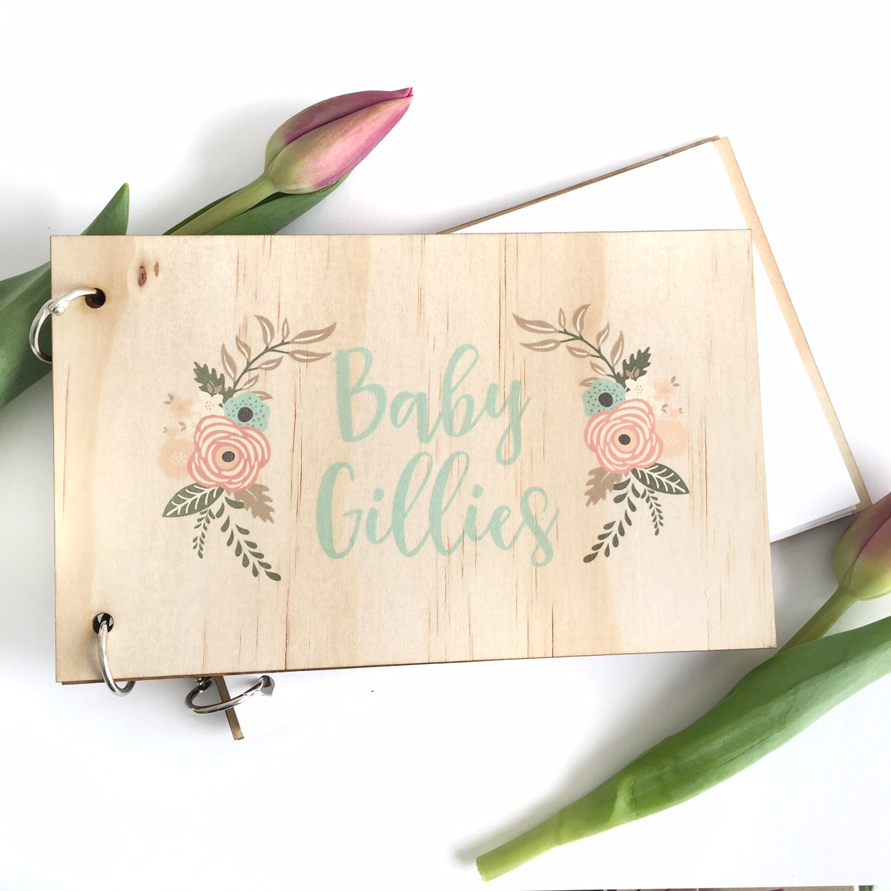 Baby Shower - With laurels guest book