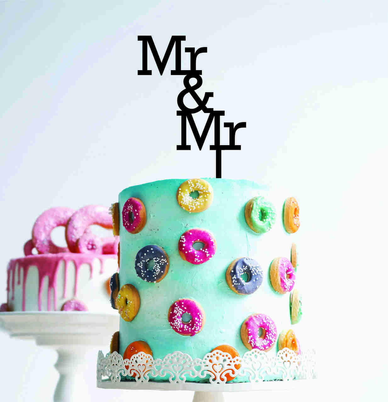 Mr & Mr - Wedding - Wood Cake Topper / wooden topper