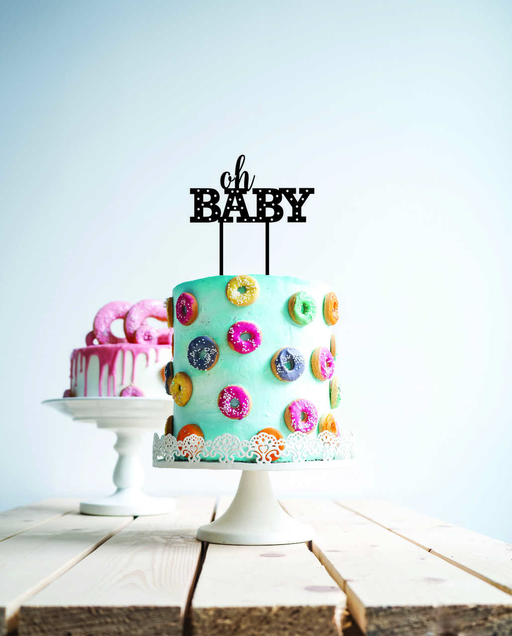 Oh baby - hollywood lights cake topper