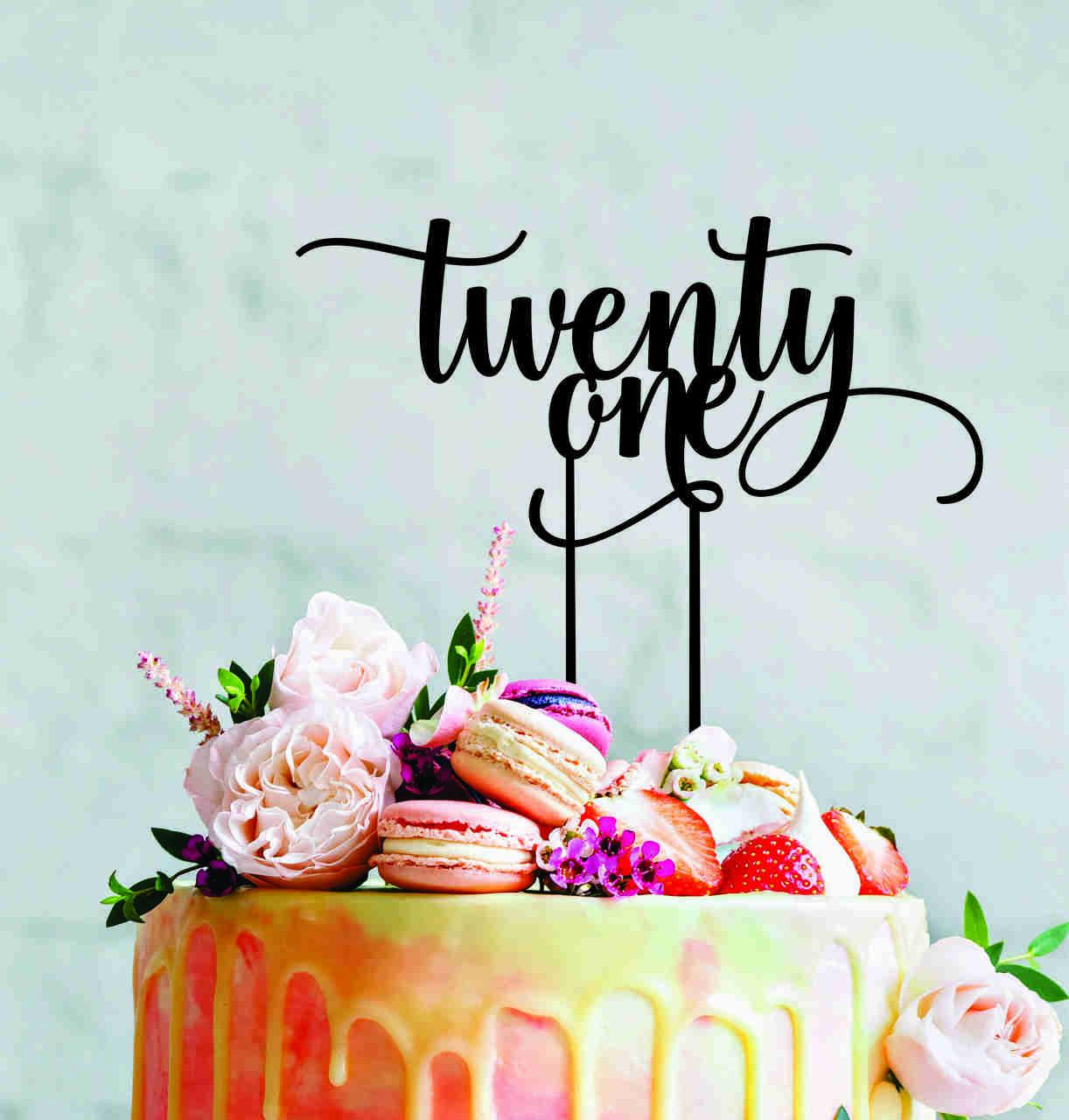 Twenty One - 21st cake topper