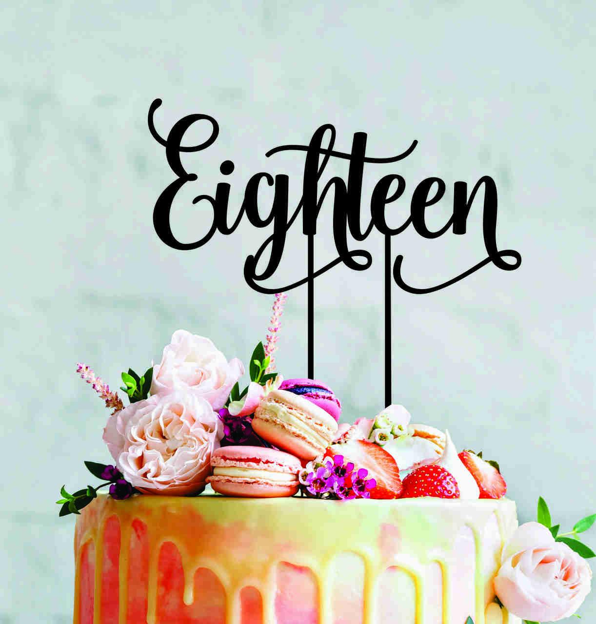 Eighteen cake topper