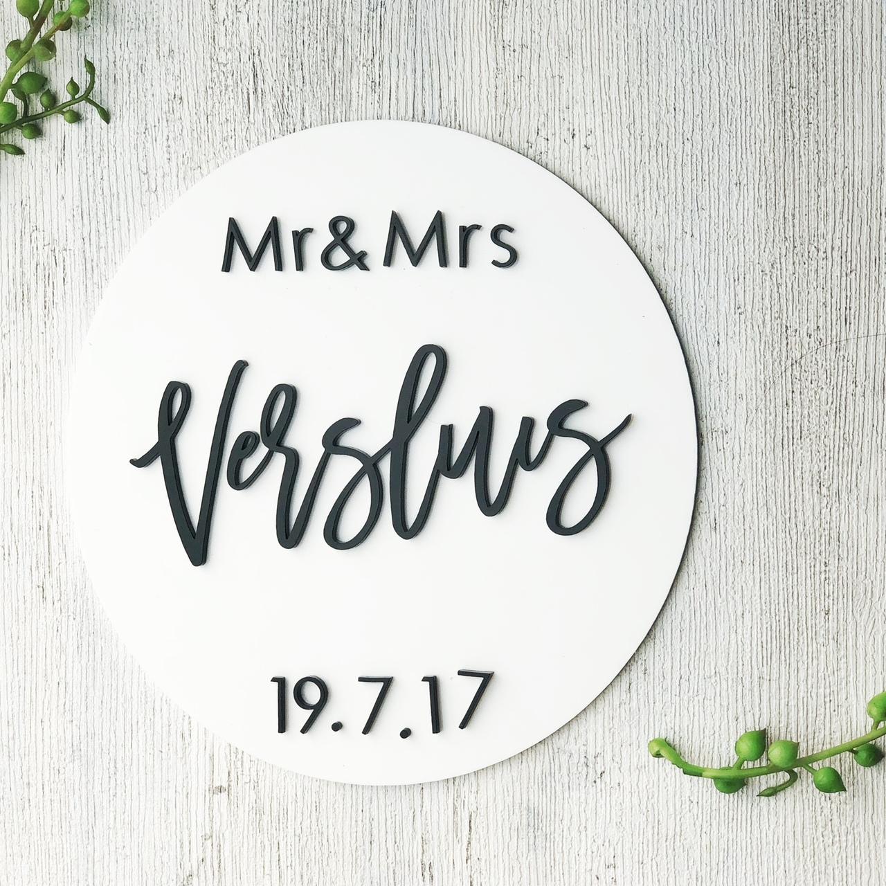 White  Acrylic Wedding Sign