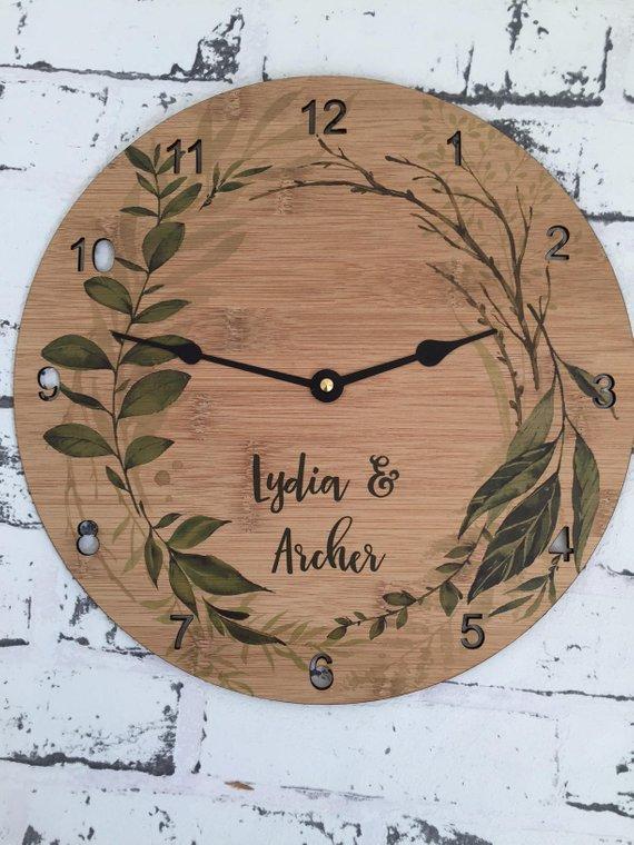 Wreath Clock