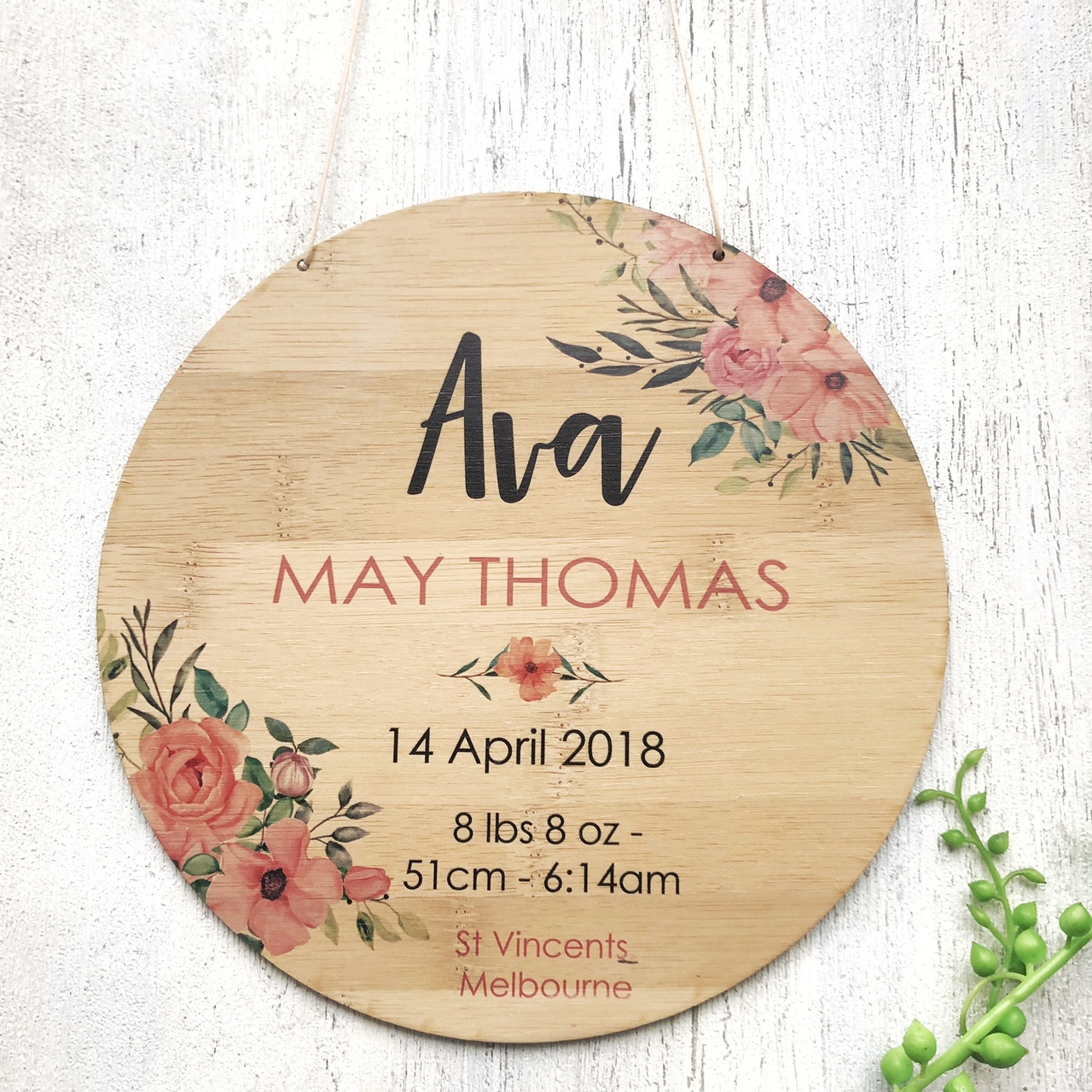 Birth Announcement - Floral