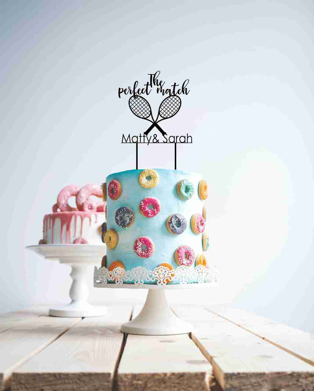 Tennis - The perfect match Couple Cake topper