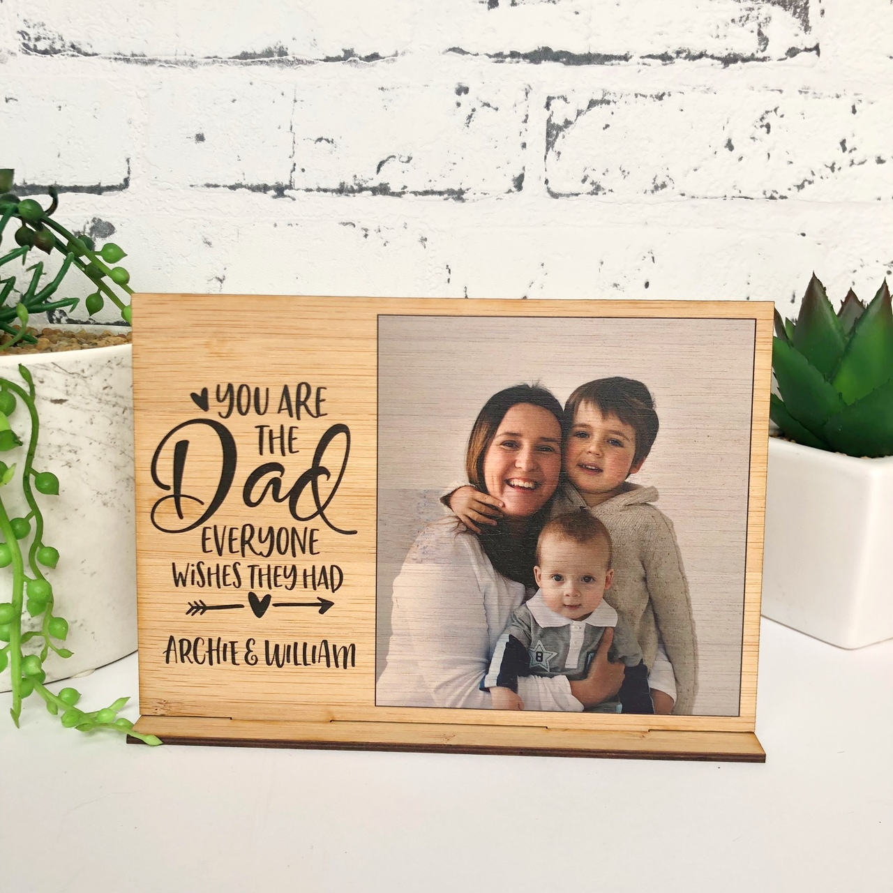 Father's Day - Daddy photo desk stand