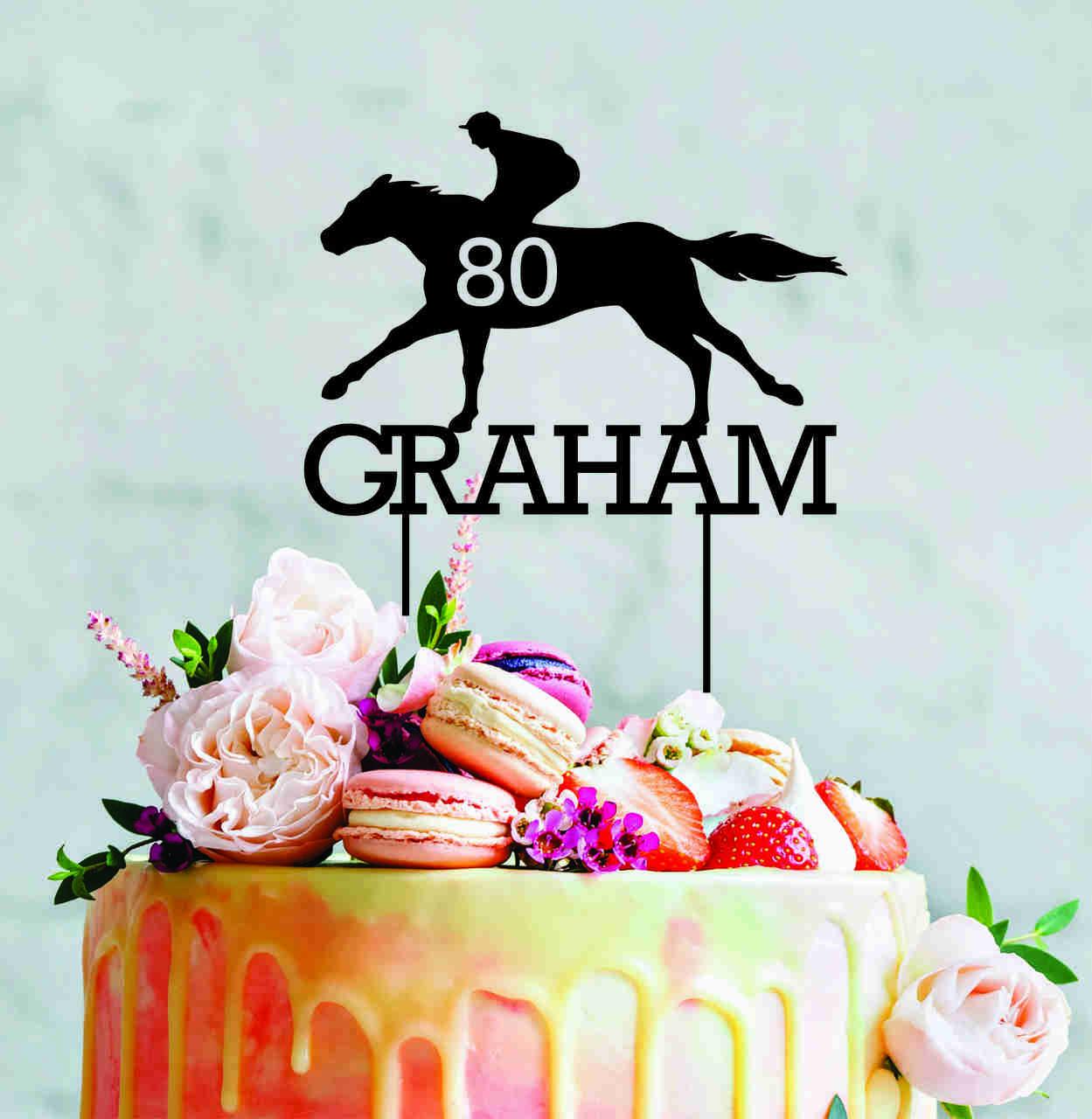 custom Racing cake topper - Personalised cake decoration