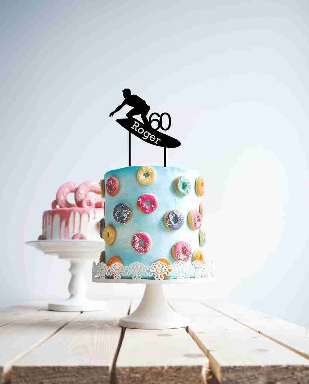 Surfer cake topper