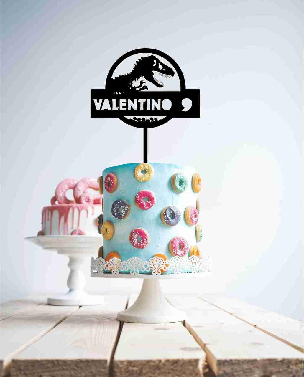 Dinosaur personalised, Cake Topper