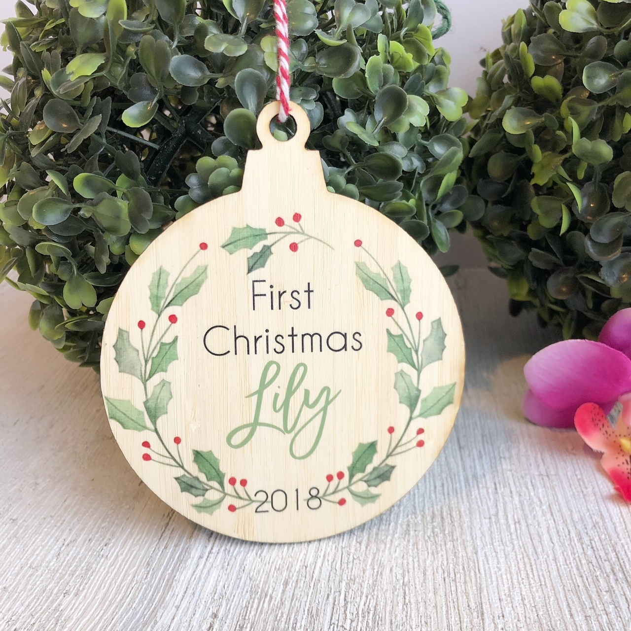 Christmas Bauble - First Christmas Wreath