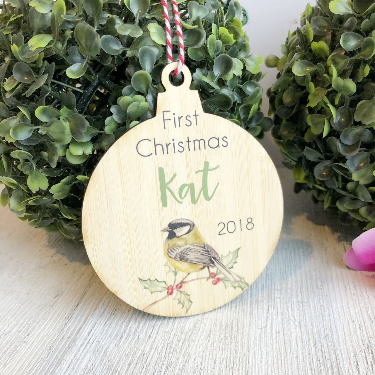 Christmas Bauble - First Christmas Wren