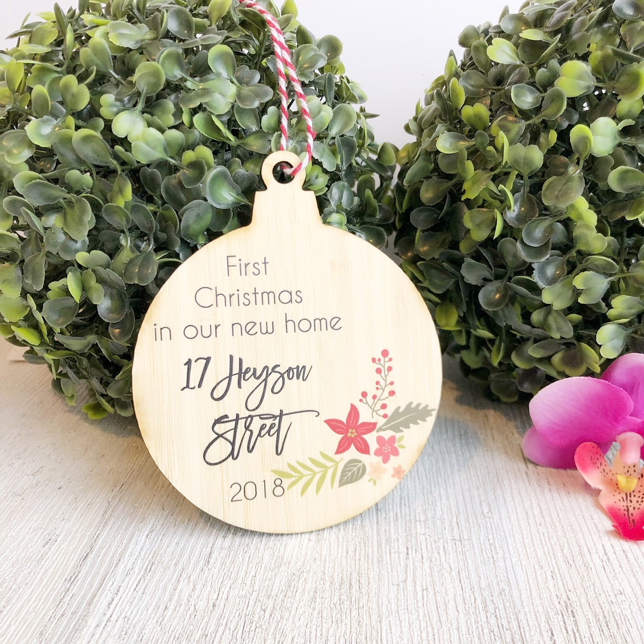 Christmas Bauble - First Christmas New home Christmas Arrangement