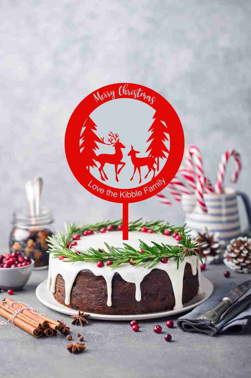 Christmas Cake Toppers.Deluxe Christmas Cake Topper