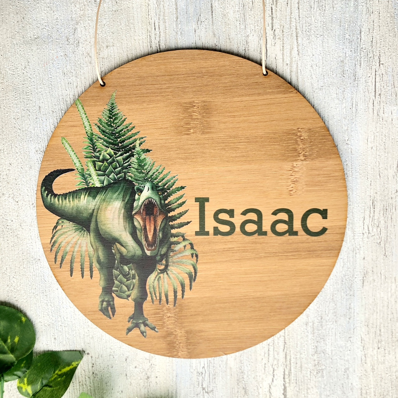 Dinosaur  bamboo plywood wall hanging