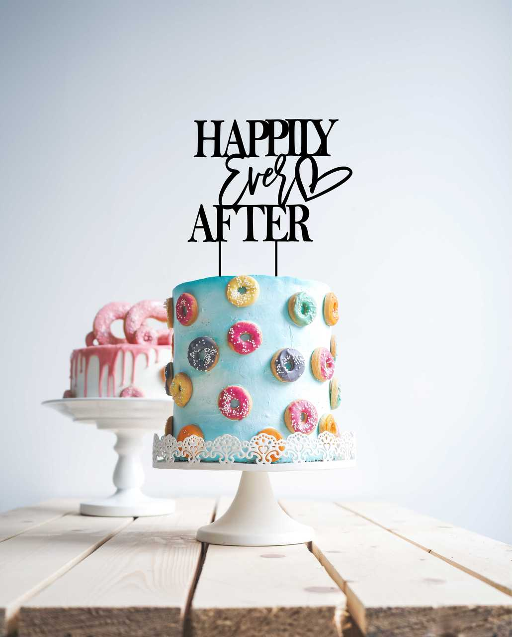 Happily ever after - Wood Cake Topper / wooden topper