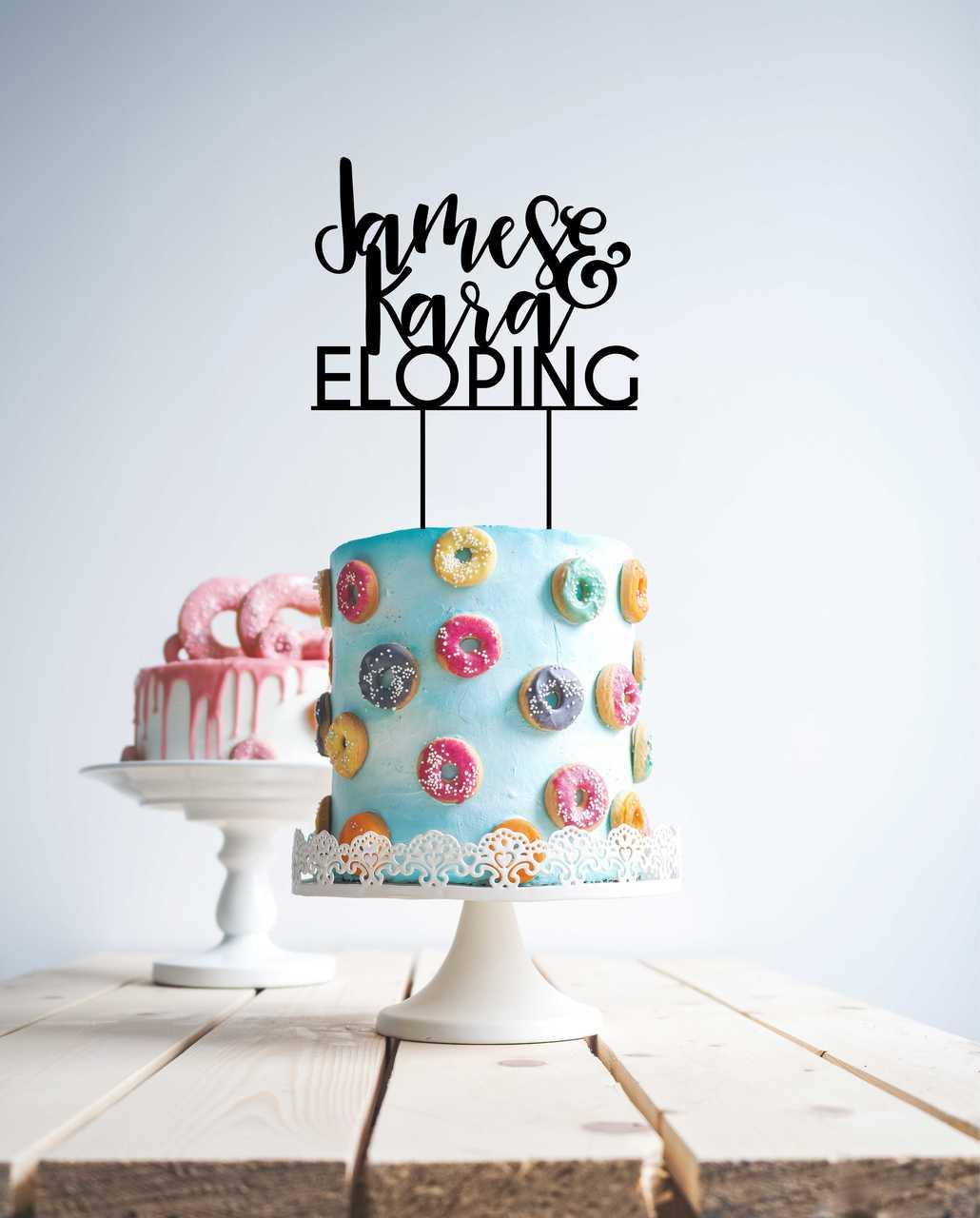 Eloping cake topper