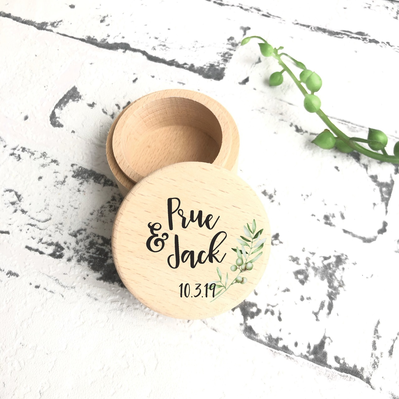 Olive Leaves - Ring Box