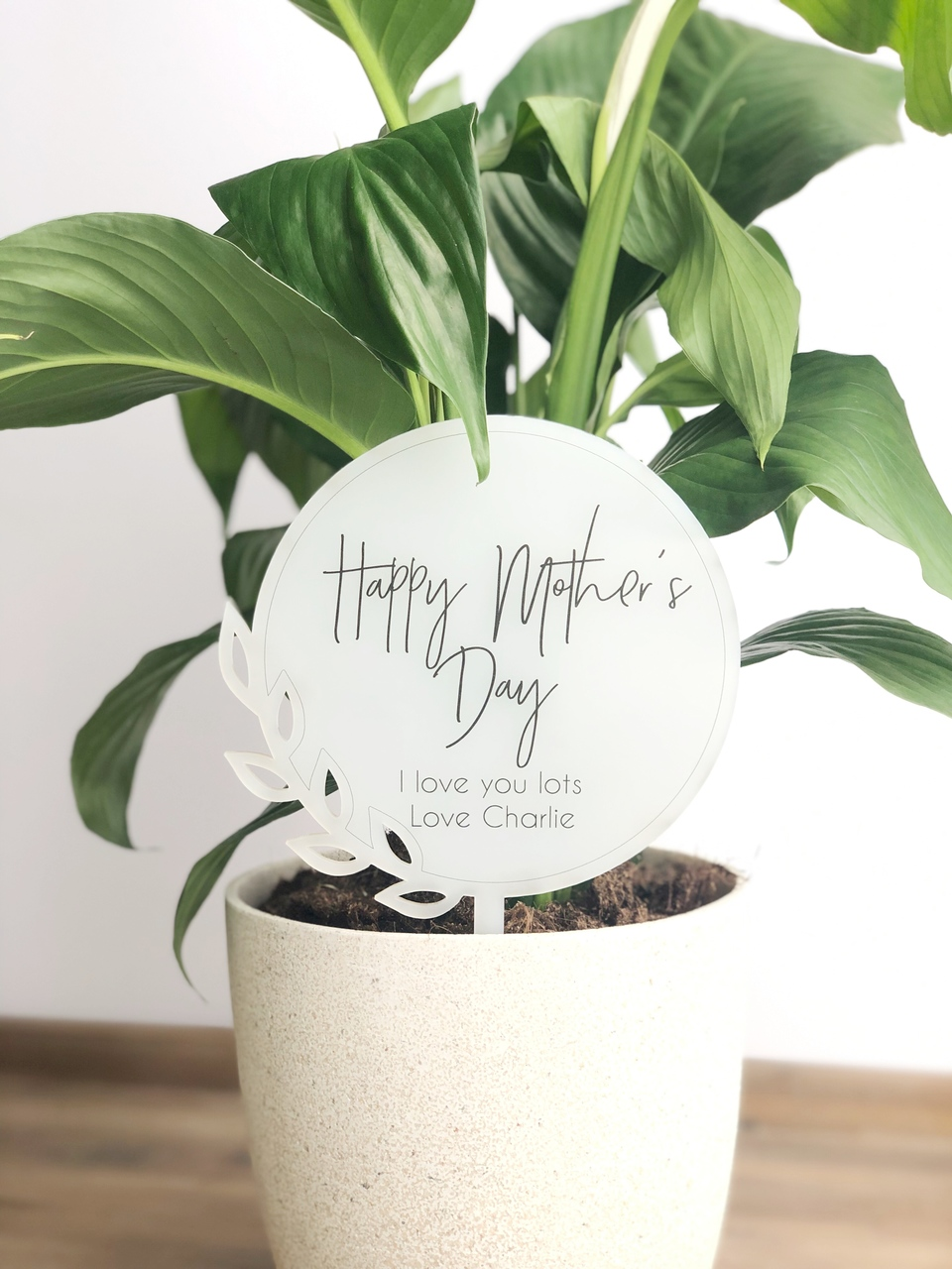 Mothers Day Gift - Personalised planter stick