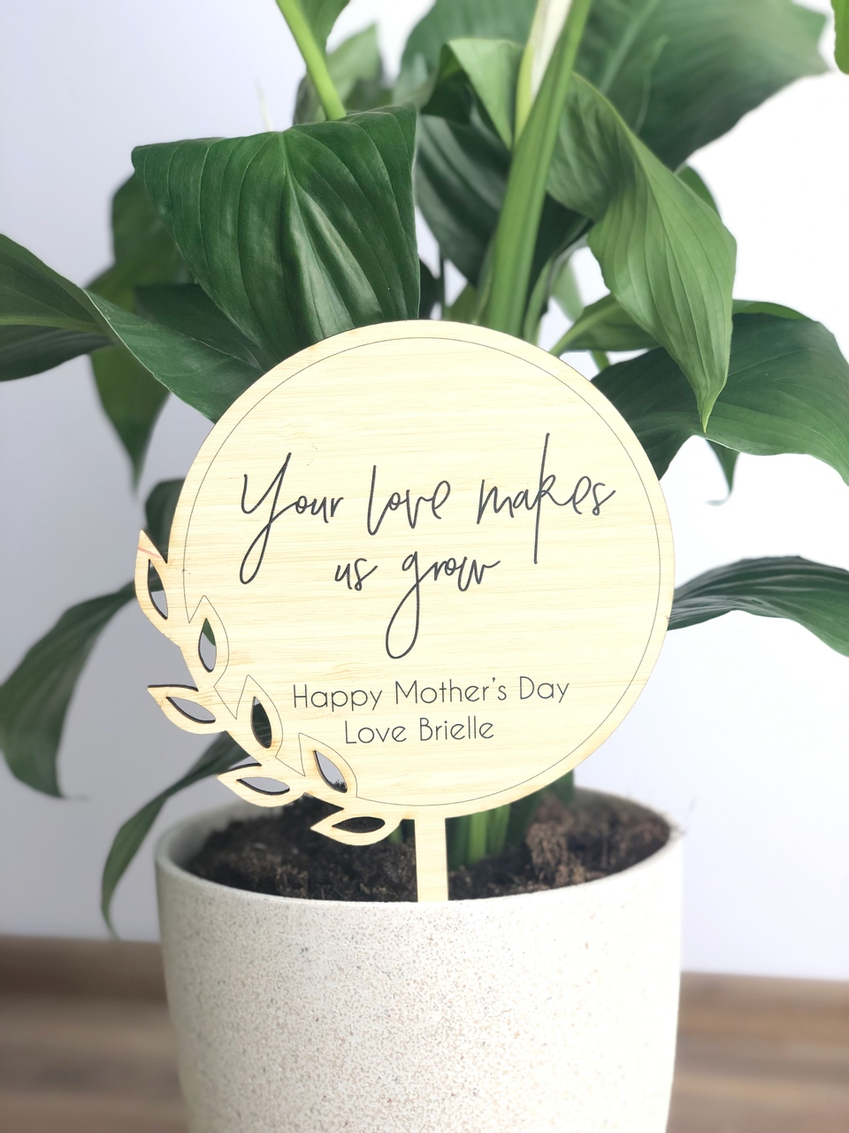 Mothers Day Gift - If flowers planter stick