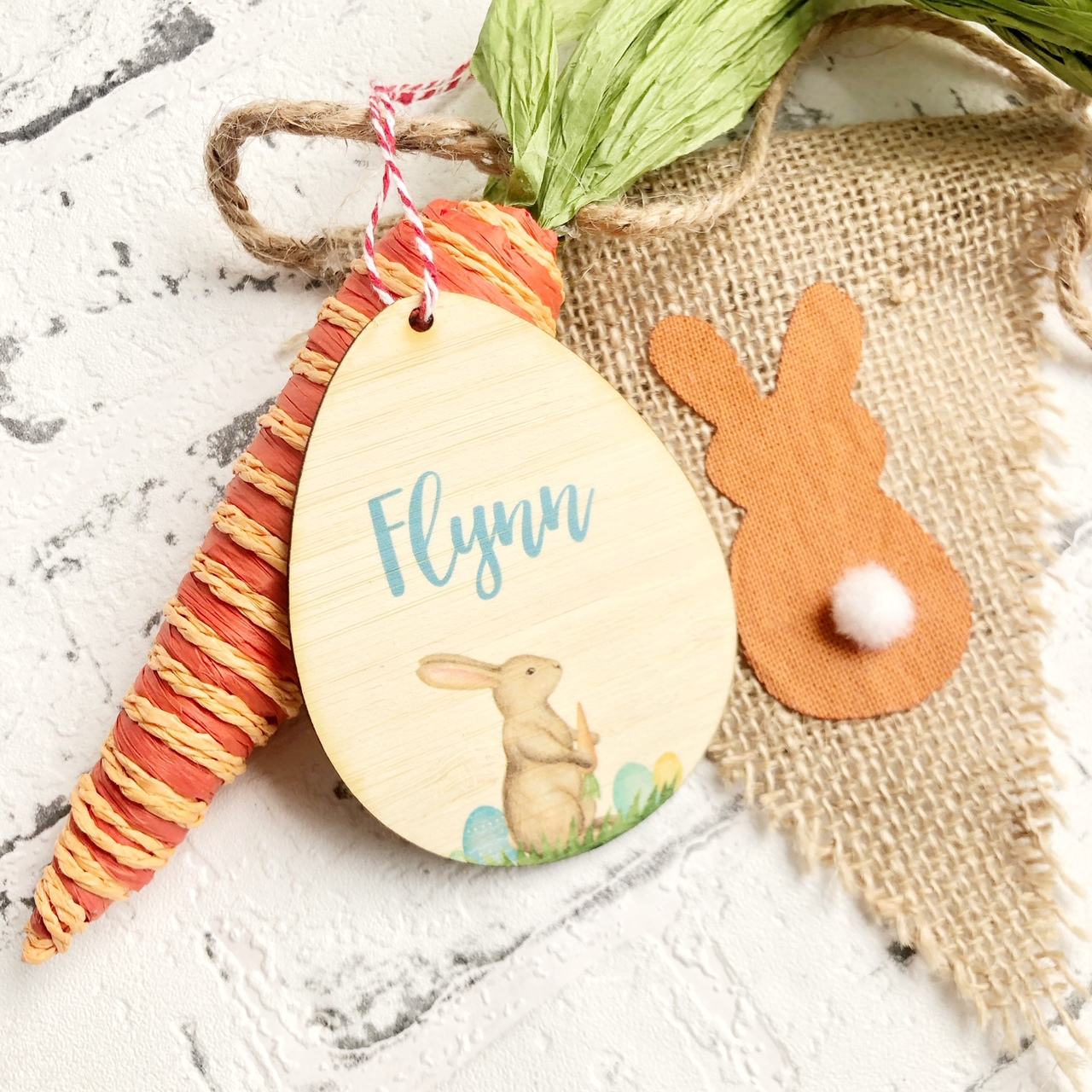 Personalised Easter Tag - Single Bunny