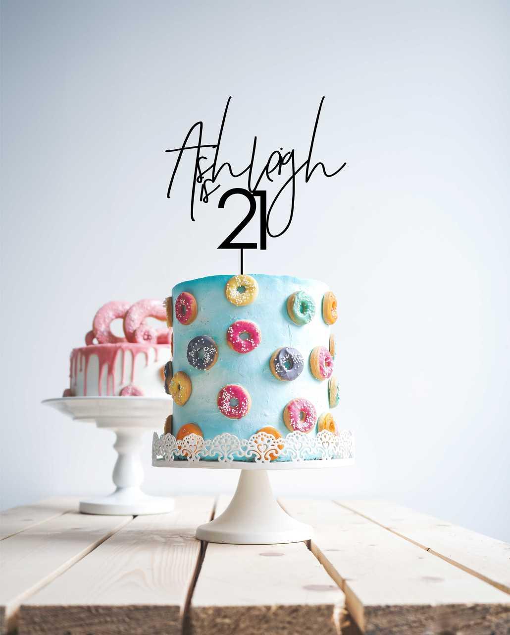 Script 21 cake topper