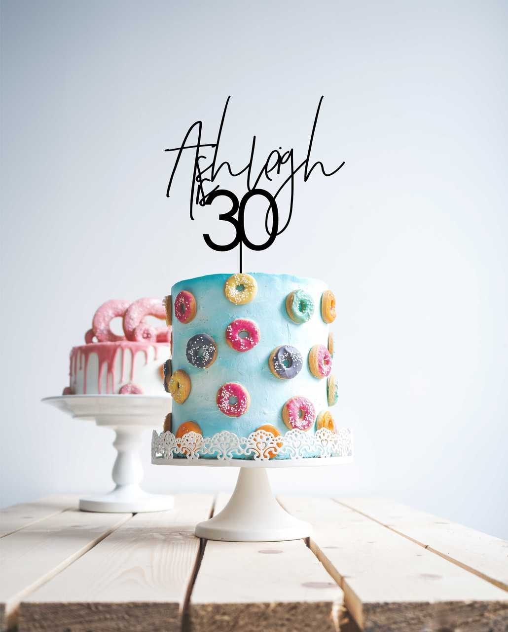 Script 30 birthday cake topper