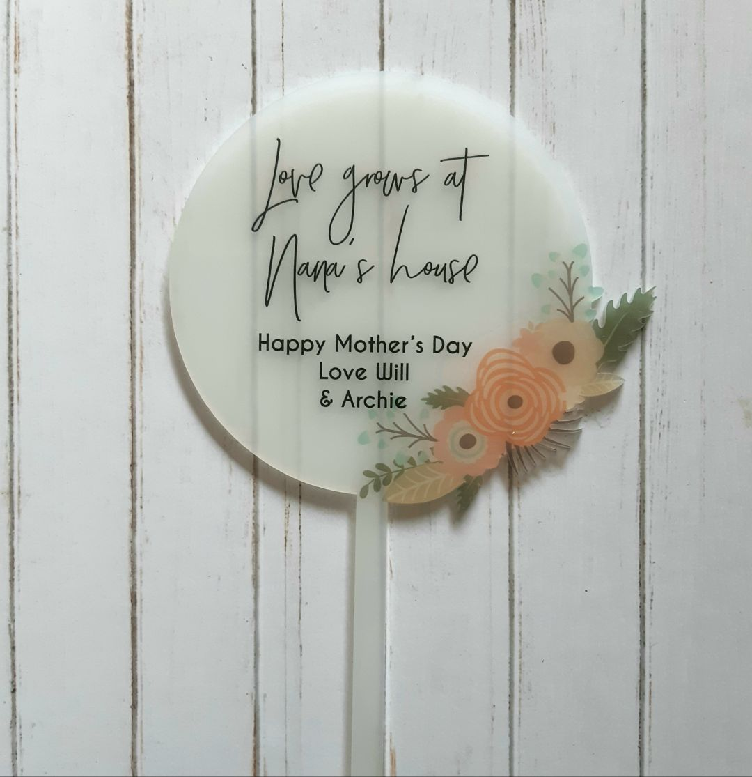 Mothers Day Gift - Printed Planter Stick