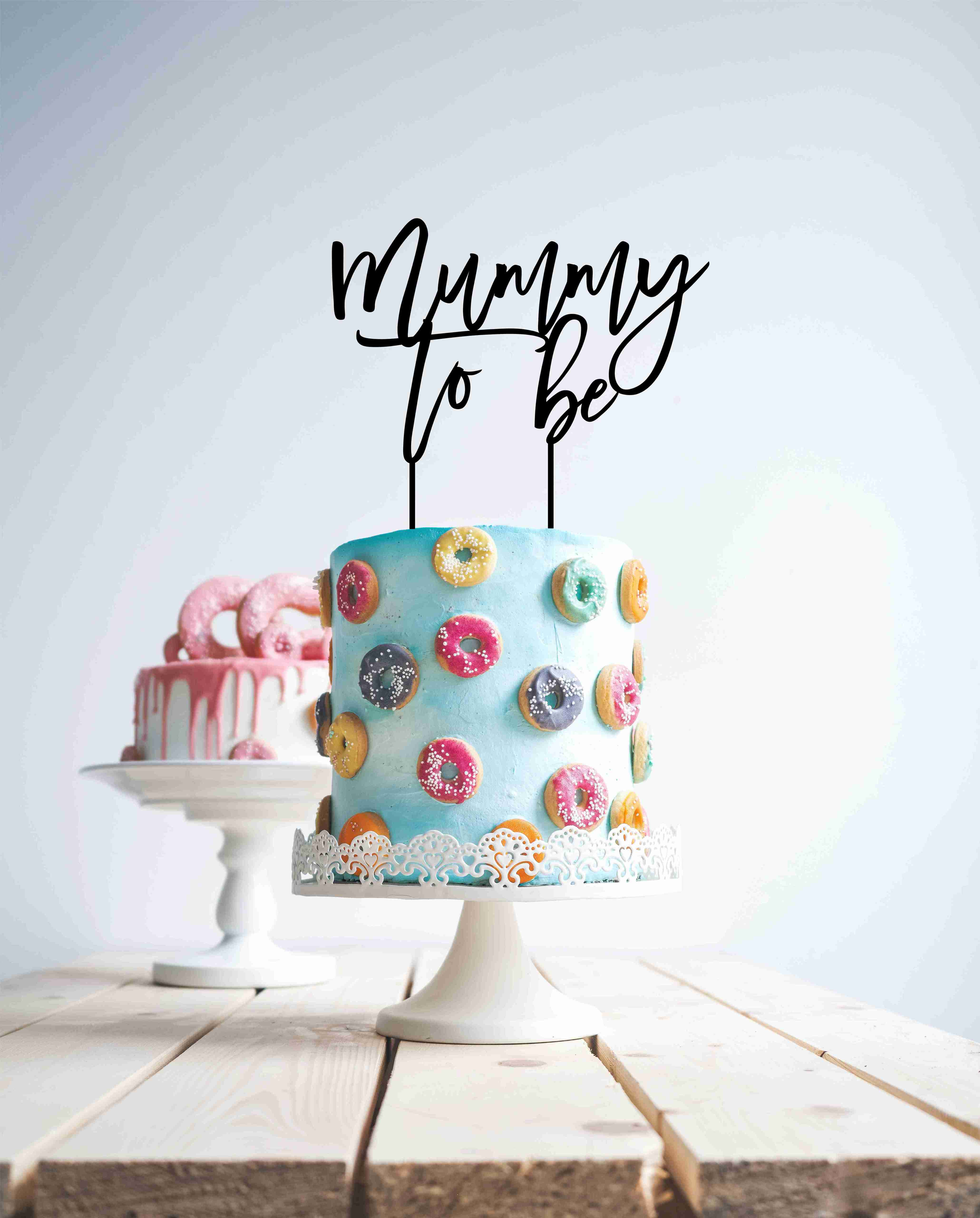 Mummy to be - Wood Cake Topper / wooden topper