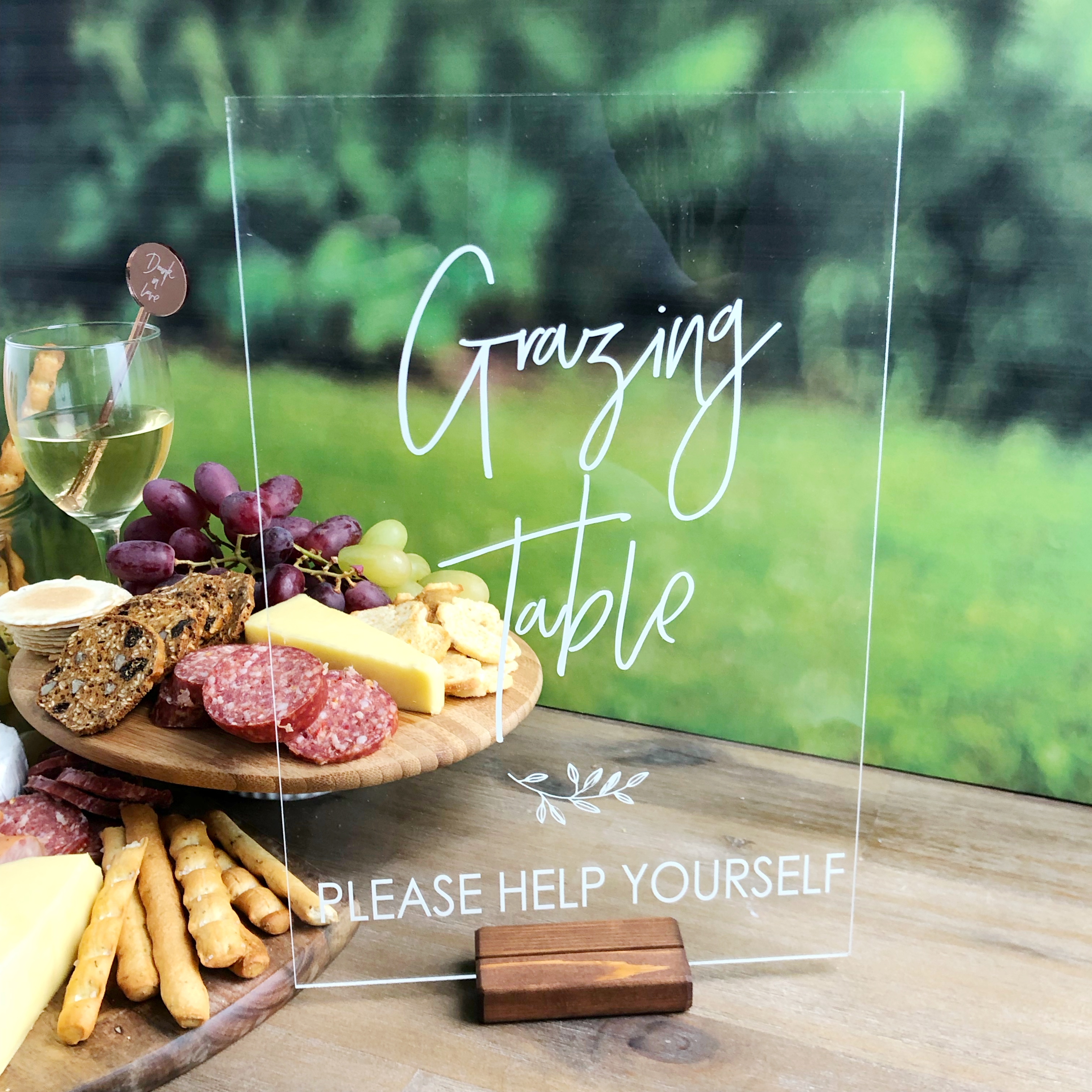 Grazing Platter - Clear Acrylic Sign