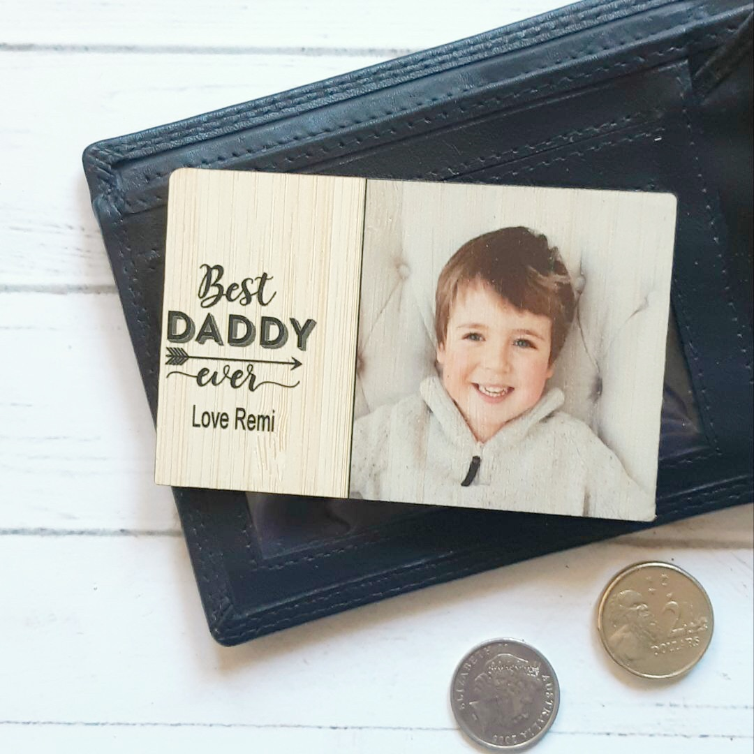 Fathers Day - Wallet Insert Best {personalised} ever