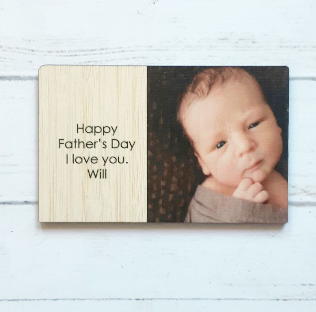 Fathers Day - Happy Father's Day - personalised wallet insert