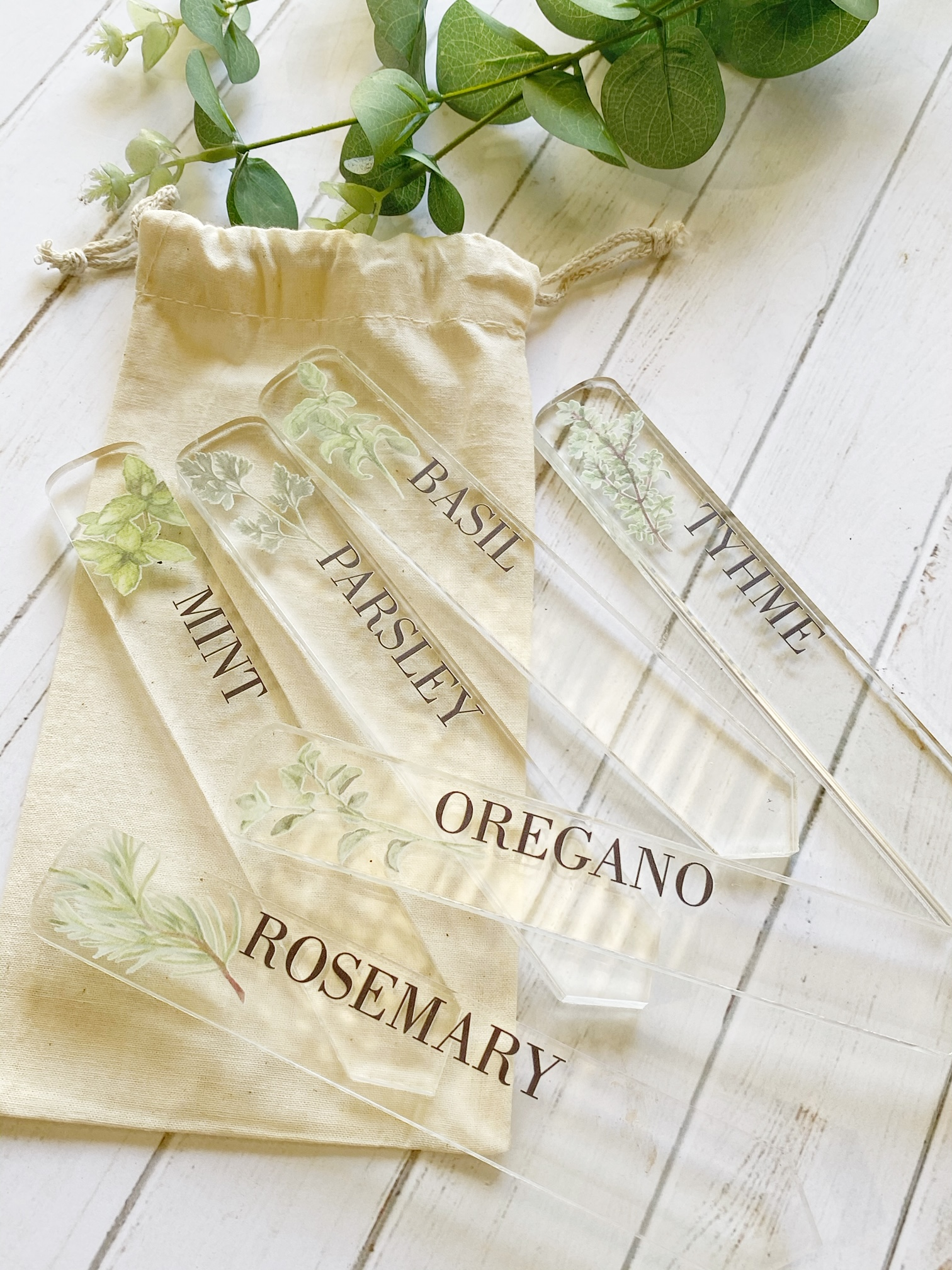 A Set of 6 Plant Markers
