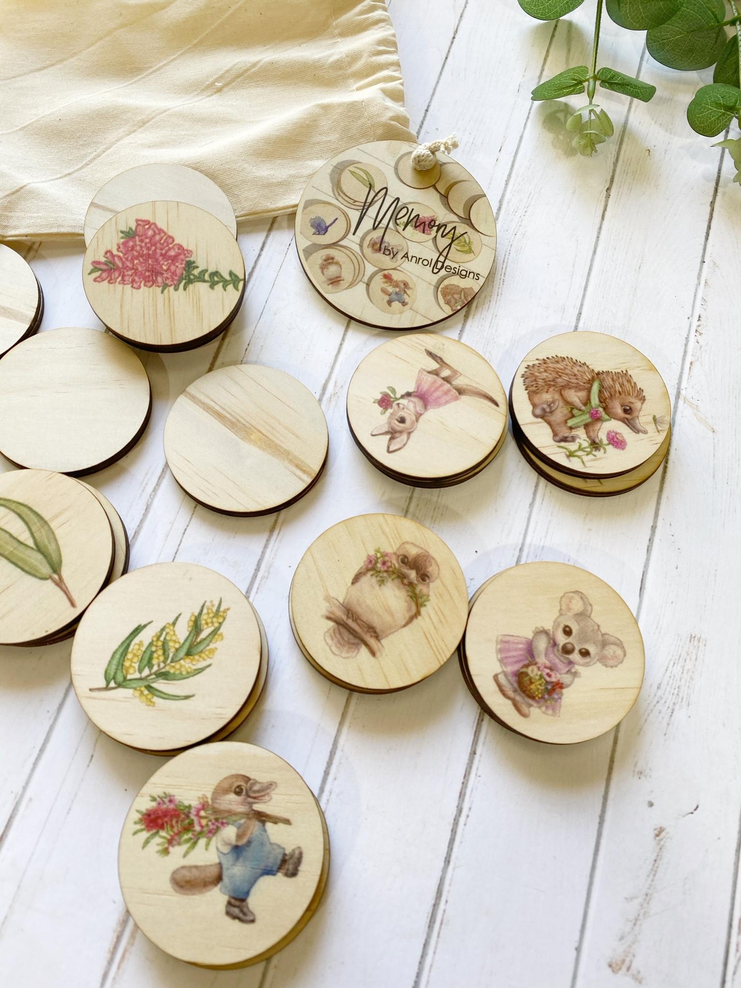 Australian Flora & Fauna Memory Match