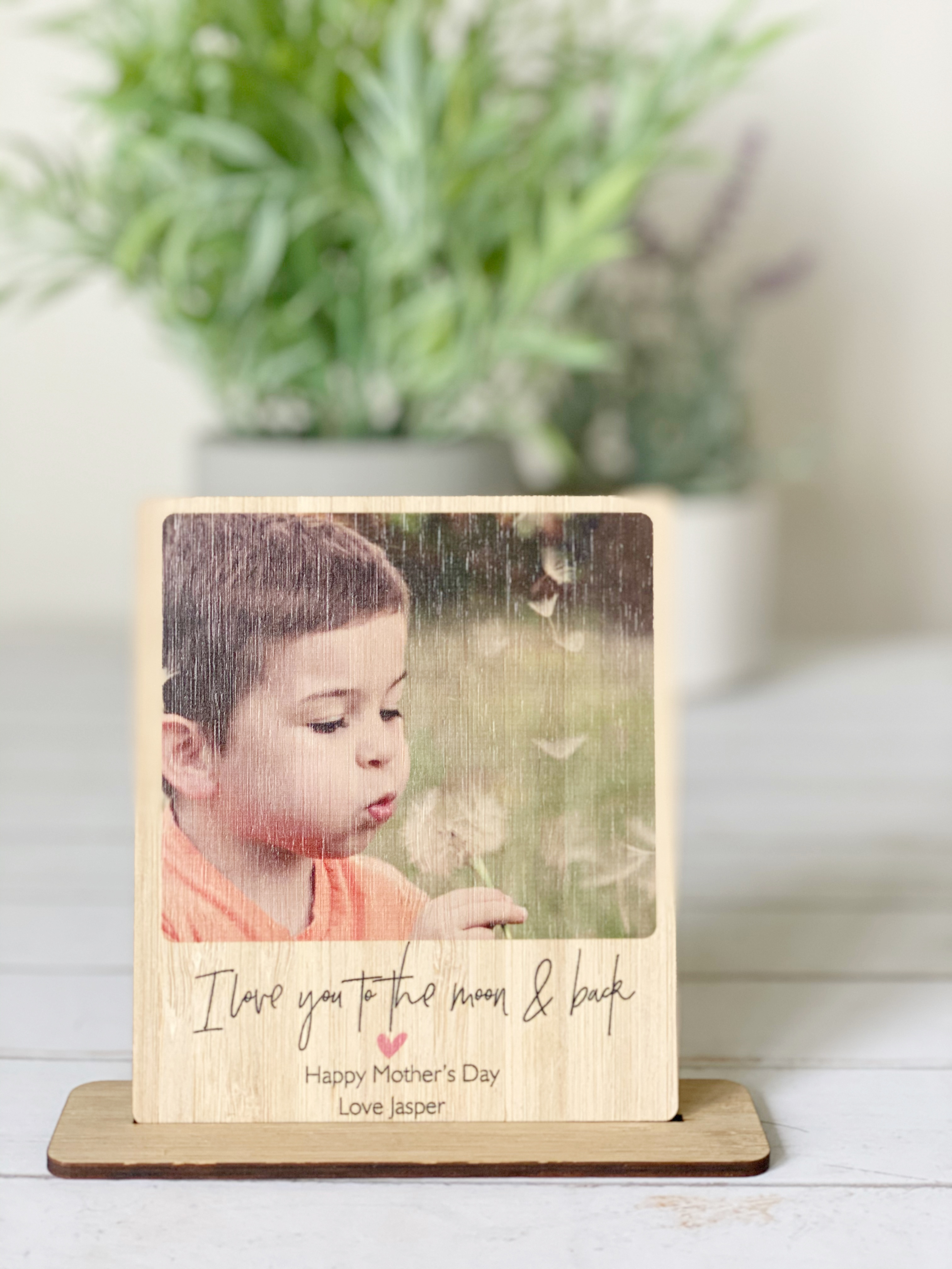 I love you to the moon and back - Polaroid Desk stand