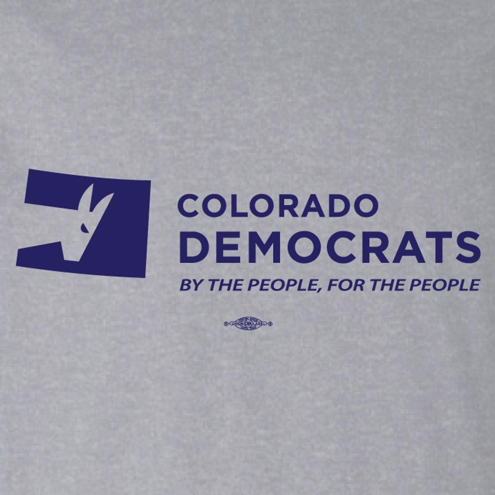 Colorado Democrats Official Logo (Athletic Heather Ladies-Cut Tee)