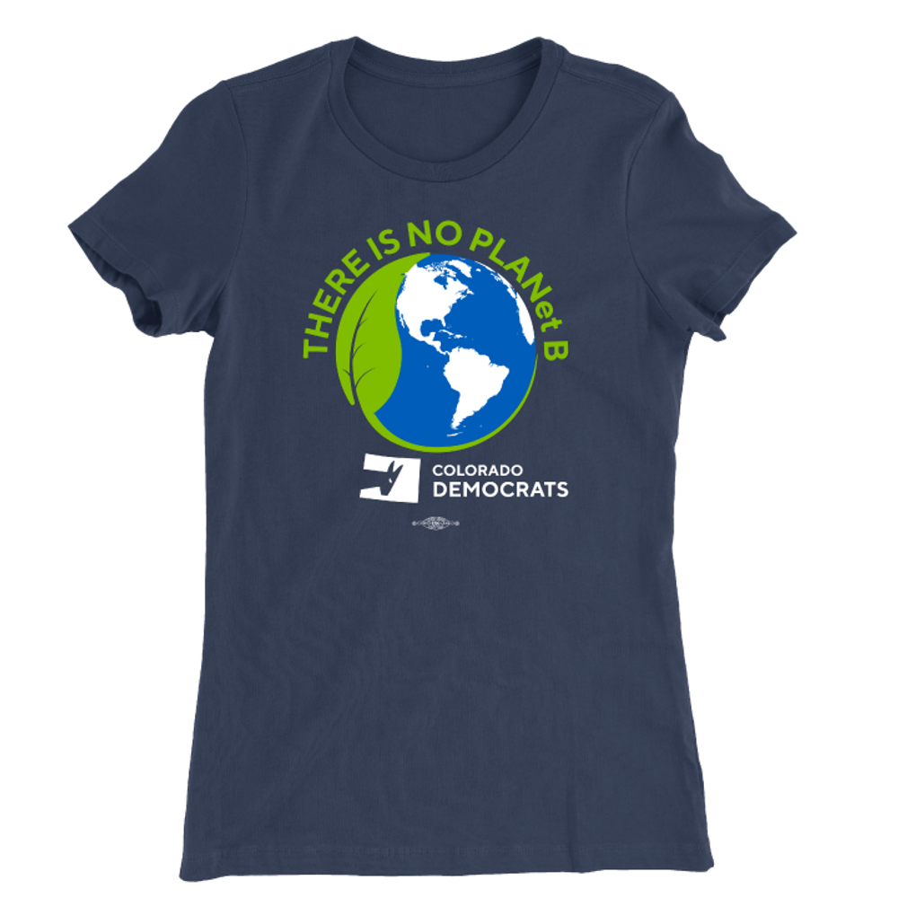 There Is No Plan(et) B (Navy Ladies Tee)