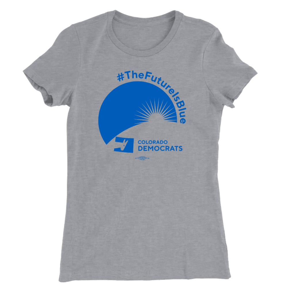 The Future Is Blue (Athletic Heather Ladies Tee)