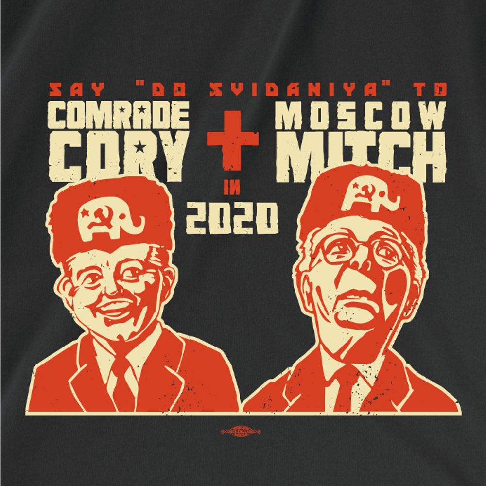 Comrade Cory + Moscow Mitch (Unisex Black Tee)